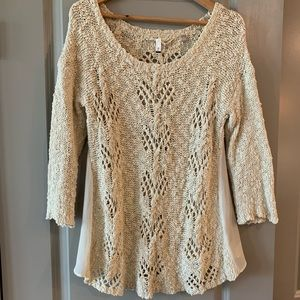 Anthropologie crochet lightweight sweater